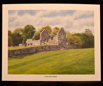 Watercolour Print - St Blanes Chapel - Isle of Bute
